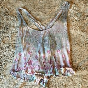 Open Back Ecote Tank Top Small